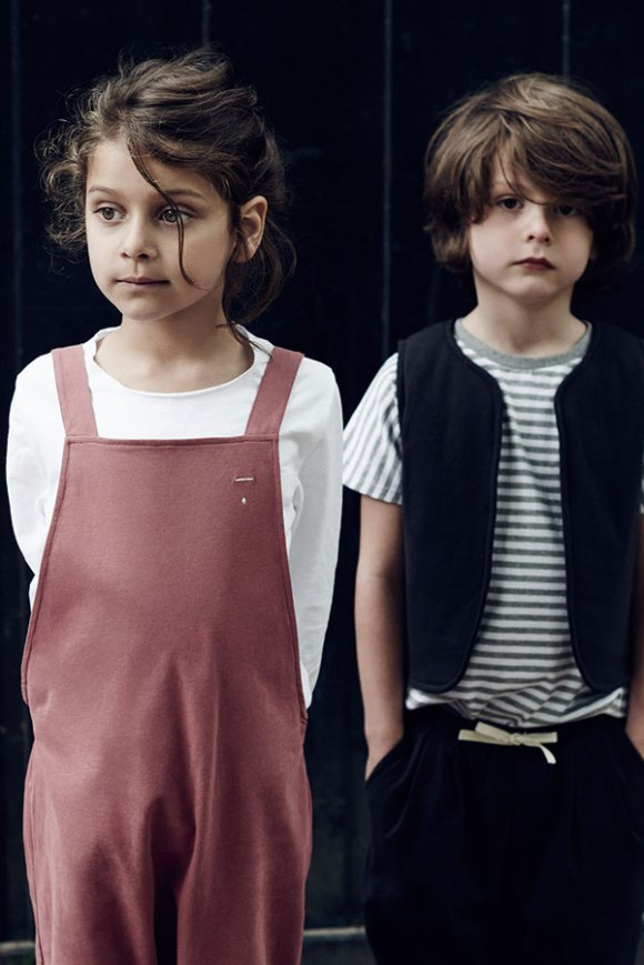 Girl-in-salopette-and-boy-gilet